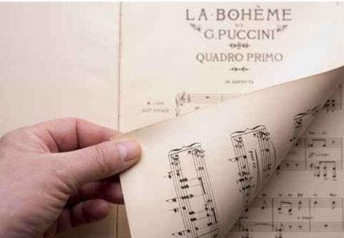 Spartito della Boheme di Puccini